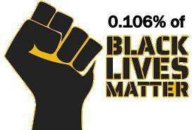 SLOGAN CORRECTION – 0.106% BLACK LIVES MATTER